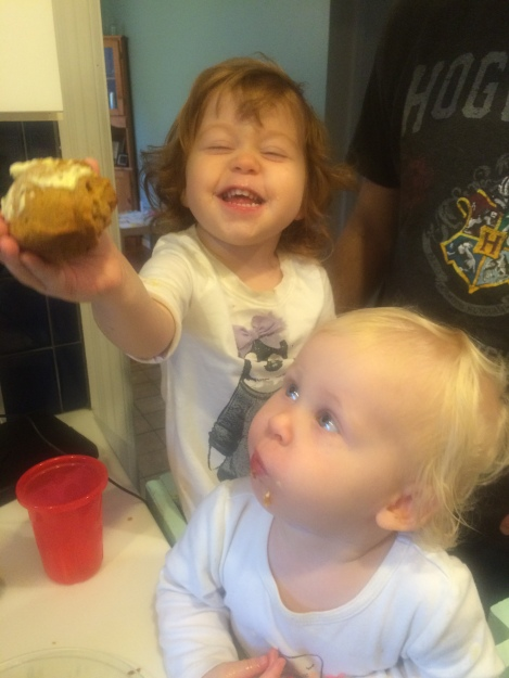 We did finally bake the requisite fall pumpkin muffins